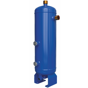 Helical oil separator with receiver
